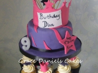 diva tiara crown cupcakes